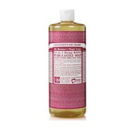 Dr. Bronner's Magic Soaps Dr Bronner'S Rose Castile Liquid Soap ( 1X32 Oz) by Dr. Bronner 1 Brand New