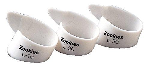 Dunlop Z9003L20 Zookies Thumbpicks, White, Large 20⁰, 12/Bag (Dunlop Zookies Thumb Picks)