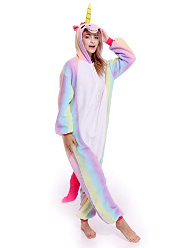 Unisex Adult Onesie Pajamas Plush One Piece Animal Cosplay Costume Onesies for Women Men Teens ()