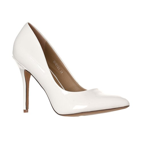 Pointed Toe High Heels Shoes (White) - 6