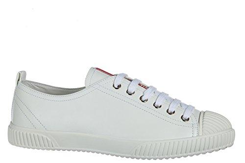 Prada Damenschuhe Turnschuhe Damen Leder Schuhe Sneakers Weiß