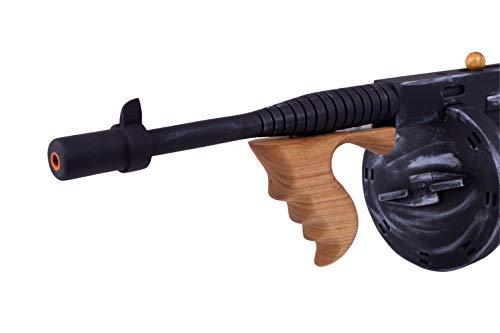 Tommy Gun - Thompson Submachine Gun - Replica Guns - Gangster Gun - Gangster Accessories for Men - Gangster Party - Cosplay Gun - Thompson m1a1 - Wooden Gun - Movie Guns - WW2 Military - Mafia Gun ()