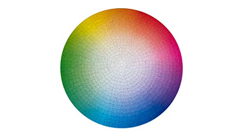 1000 Colors Round Color Wheel Jigsaw Puzzle CMYK Gradient by Clemens Habicht