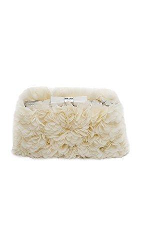 Kate Spade New York Women's Wedding Belles Flower Minaudiere, Bridal Cream, One Size