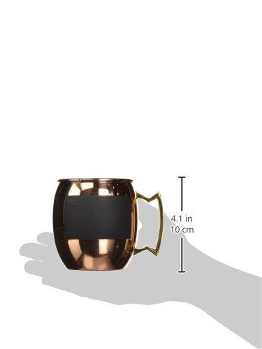 60900 Jodhpuri Stainless Steel Copper Moscow Mule Chalk Mug 16 oz cold-beverage-cup One Size Jodhpuri Inc