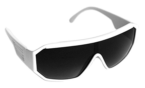 Rasslor Retro White Shield - Savage Randy Sunglasses