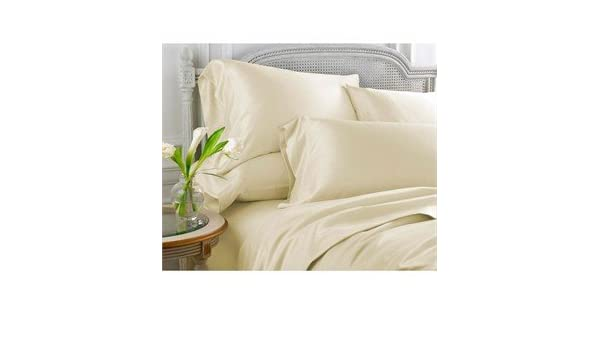 Premium Bedding Collection 1000 Thread Count Egypt Cotton All Sizes Ivory Solid