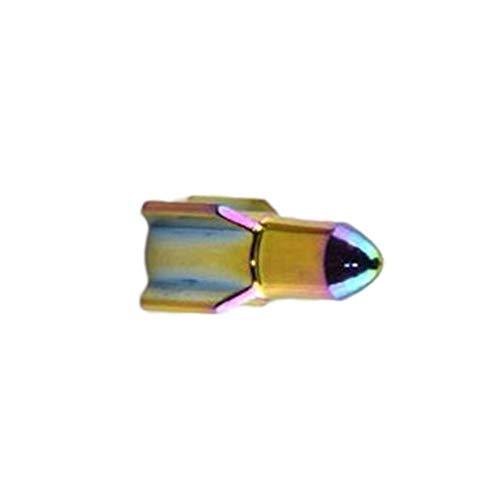 8Eninine Estilo del autom/óvil Ruedas Neum/áticos V/álvula Tapones Antipolvo Auto Motocicleta V/ástago C/ápsulas Rocket Shape