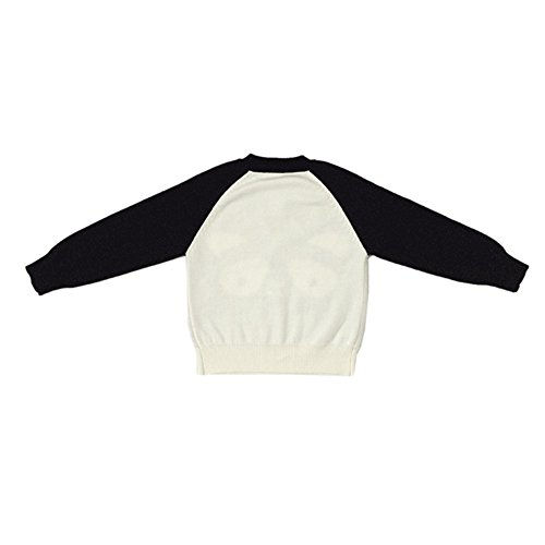 Dr.mama Jerséis con diseños logotipo de Panda Ropa de punto para bebés madre (material: algodón 100%) blanco-120