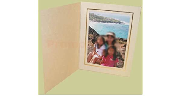 06ff76a933f5 Amazon.com - OPAL FOLDER CREAM GOLD 4x6 Photo Cards - Picture Frames