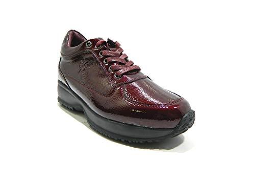 Avirex 1181 Alto Donna Scarpe Fondo Sneakers Gunny Bordeaux FHwqxFf