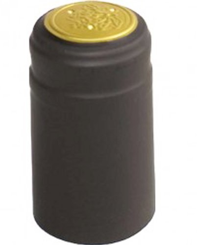 ABC Cork LDC 4585C-100 Solid Black - Matte - PVC Shrink Caps with Tear Off (Pack of ()