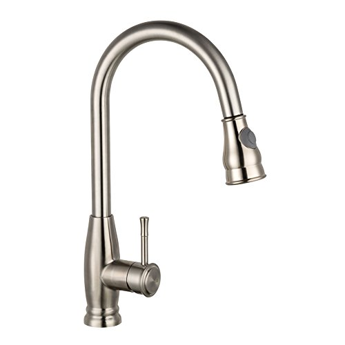 Kitchen Faucets, LiFu Stainless Steel Simplice Single Handle Pull-Down Sprayer Kitchen Faucet, Pull Out Kitchen Sink Faucet