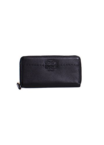 - Tory Burch McGraw Continental Zip Wallet in Black