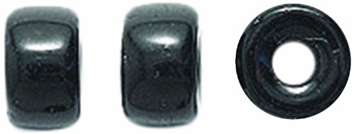 (Preciosa Ornela Traditional Czech Glass Crow Roller 200-Piece Loose Beads, 6mm, Black, 200-Pack )