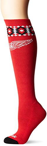 fan products of NHL Columbus Blue Jackets Women's SP17 Diamond Knee High Socks, Red, One Size