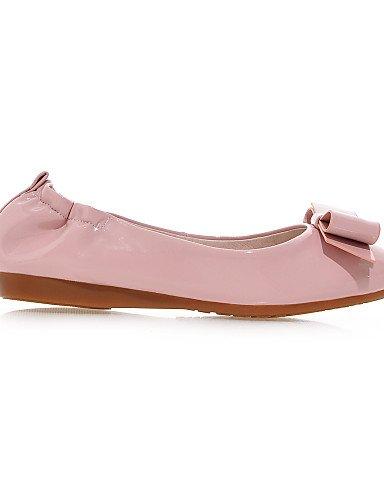 PDX/ Damenschuhe-Ballerinas-Büro / Kleid / Lässig-Kunstleder-Flacher Absatz-Mokassin-Rosa / Mandelfarben , pink-us6 / eu36 / uk4 / cn36 , pink-us6 / eu36 / uk4 / cn36