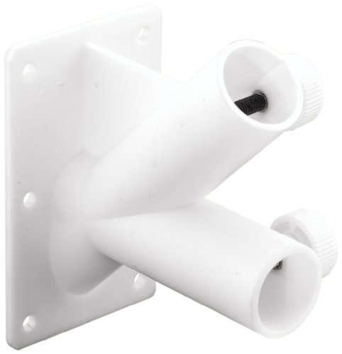 Prime-Line Products U 9374 Flag Pole Holder, 2 Hole, Off White Plastic