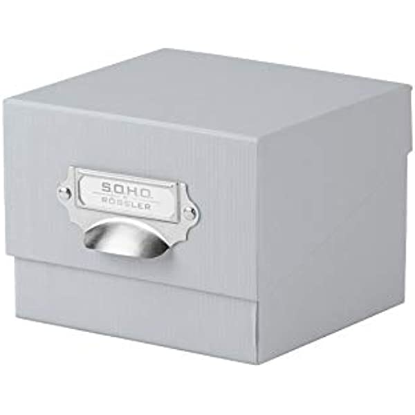 Rössler 1325452170 - Caja organizadora de fotos con tapa y porta ...