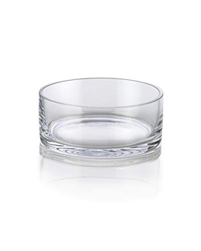 "Serene Spaces Living Low Glass Bowls in a Set of 2 – Low-Profile Bowls for Floating Candles, 5"" Diameter, 2"" Tall"