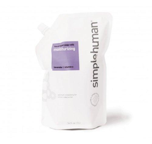 (simplehuman 34 fl. oz. Moisturizing Liquid Hand Soap Refill Pouch, Lavender/Vitamin E)