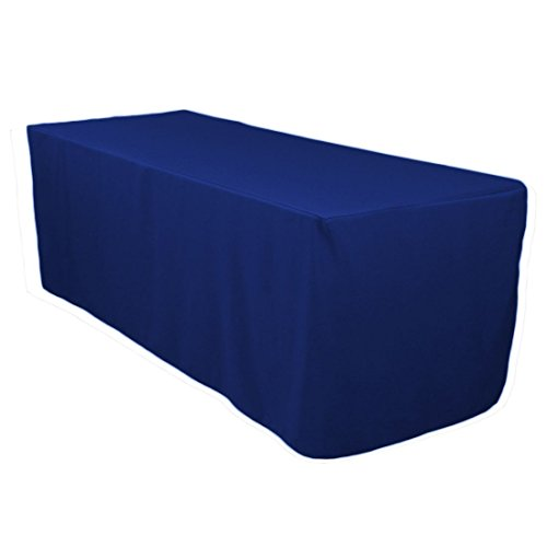 LinenTablecloth 6 ft. Fitted Polyester Tablecloth Royal Blue