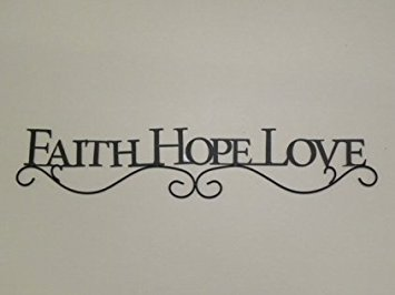 FAITH HOPE LOVE Decorative Wall Plaque