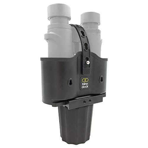 BINO DOCK Binocular Holder - Fits Any Cup Holder/Vehicle