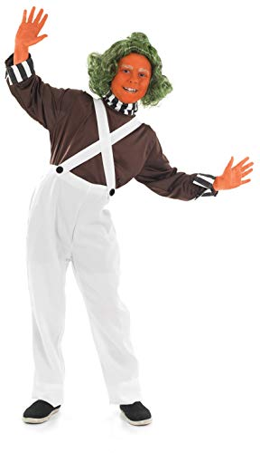 fun shack Boys Oompa Loompa Costume Kids Chocolate Factory Worker Outfit - Small -