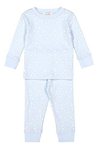 877362462537 giggle Printed PJ Set - Blue giggle dots - 100% Peruvian Pima Cotton,  Sleepwear