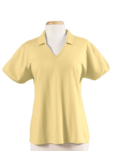 Jerzees Women's 50/50 Jersey Polo with Spotshield - MAIZE - XX-Large