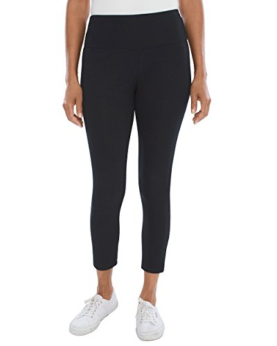 Chicos Womens Zenergy So Slimming Crop Leggings Size 8 10 M  1  Black