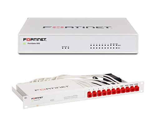 Fortinet | FortiGate-60E Series Next Generation (NGFW) Firewall | Firewall + Rackmount Kit | FG-60E+RM-FR-T10