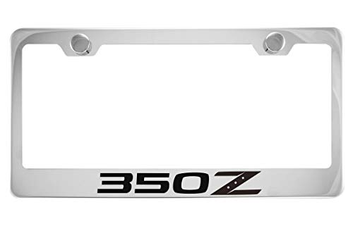 Nissan 350Z Chrome License Plate Frame with Caps -