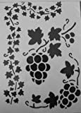 KABEER ART A4 Size Translucent plastic stencil set of 5 pc For Art and Craft Purpose