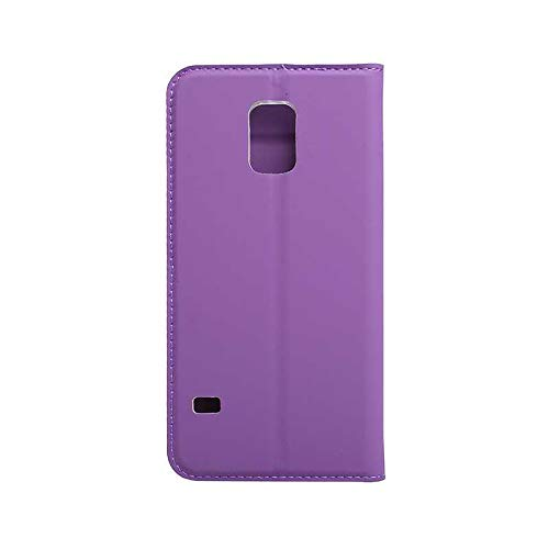 Galaxy S5 Case, CUSKING Ultra Slim Wallet Case Magnetic Flip Cover with Card Holder, Folding Stand Protective Case with Silicone Inner Case for Samsung Galaxy S5 - Purple