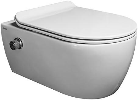 ssww – taharet WC de borde Incluye grifo y asiento de cierre ultra ...