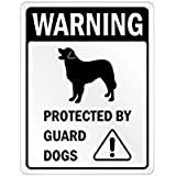 Warning Leonberger Protected by Guard Dogs - Dogs - Parking Sign [ Decorative Novelty Sign Wall Plaque ]