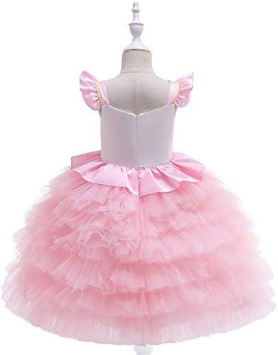 Bonito disfraz de unicornio para ni/ñas con cinta para el primer cumplea/ños Edad 1 Disfraz de tut/ú rosa 4 a/ños