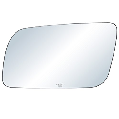 exactafit 8770L Replacement Lens Side Power Mirror Flat Glass fits Driver's Left Hand LH for Chevy GMC C/K 1500 2500 3500 Blazer Yukon Jimmy Suburban by Rugged TUFF (Blazer Door Mirror)