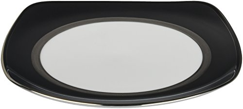 Noritake Renwick Platinum 8-3/4-Inch Square Luncheon Plate (Platinum Square Luncheon Plate)