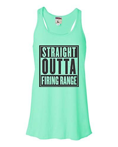 Firing Battle Tank (Go All Out X-Large Mint Womens Straight Outta Firing Range Flowy Racerback Tank Top T-Shirt)