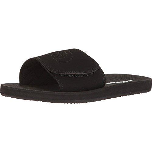 Cobian Men's Cruz Slide Sandals, Black Man-Made, Textile, Rubber, 11 M