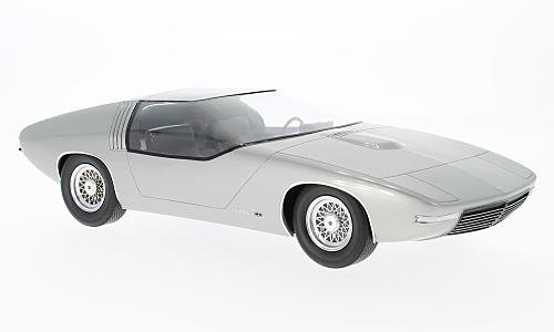 Opel CD concept, silver, 1969, Model Car, Ready-made, BoS-Models 1:18