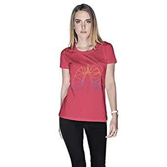 Creo Lungs Animal T-Shirt For Women - L, Pink