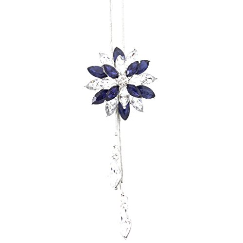 Essencedelight Necklace for Women Girls Double Crystal Flower Pattern Jewelry Necklaces