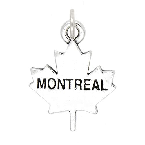 Sterling Silver Montreal Canada Charm Jewelry Making Supply Pendant Bracelet DIY Crafting by Wholesale Charms -