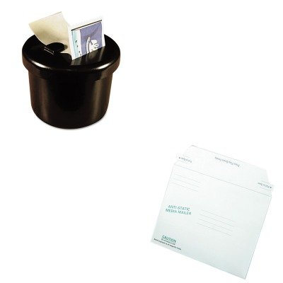 KITLEE40100QUA64126 - Value Kit - Quality Park Antistatic Fiberboard Disk Mailer (QUA64126) and Lee Ultimate Stamp Dispenser (LEE40100)