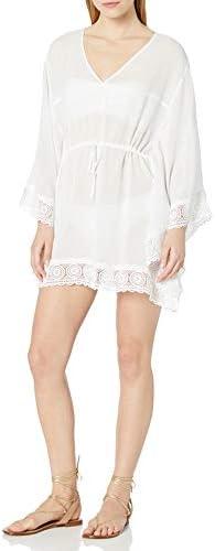 La Blanca Women's V-Neck Butterfly Tunic Swimsuit Cover Up