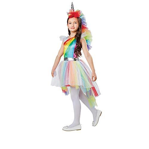 Costume Magic Girl's Rainbow Unicorn Princess Dress Up Costume (Small (4-6))]()
